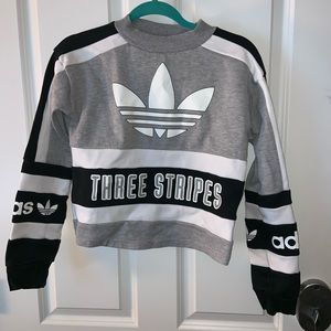 Adidas logo cropped sweatshirt